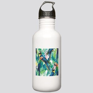 Colorful Parrots Water Bottle