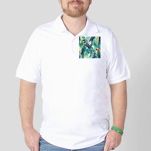 Colorful Parrots Golf Shirt