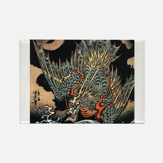Hokusai Dragon Magnets