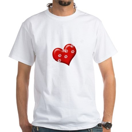 boxers_leave_paw_white-red PNG T-Shirt