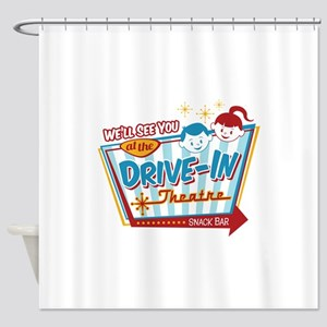 See You at the Drive-In Shower Curtain