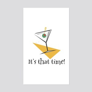 It's That Time Martini Rectangle Sticker