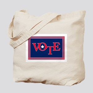 Patriotic Lattice Vote Tote Bag