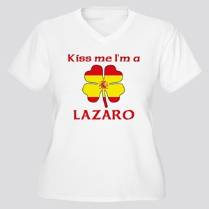 Lazaro Family Women's Plus Size V-Neck T-Shirt