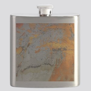 grey yellow metal abstract Flask