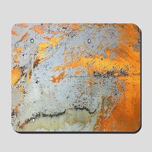 grey yellow metal abstract Mousepad