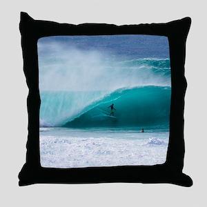Surfer Banzai Pipeline Throw Pillow