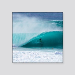 "Surfer Banzai Pipeline Square Sticker 3"" x 3"""