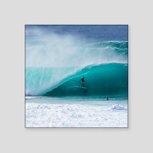 """Surfer Banzai Pipeline Square Sticker 3"""" x 3"""""""