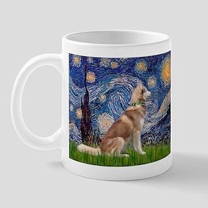 Starry Night & Red Hssky Mug