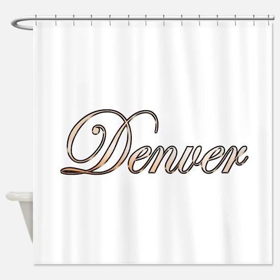 Gold Denver Shower Curtain