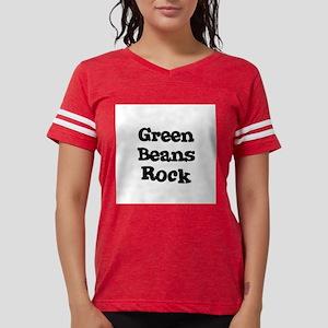 Green Beans Rock Women's Pink T-Shirt