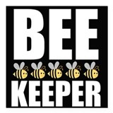 Bee keeper Square Car Magnets