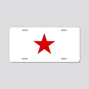 Red Star ? Aluminum License Plate