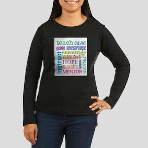 Teacher subway art Long Sleeve T-Shirt