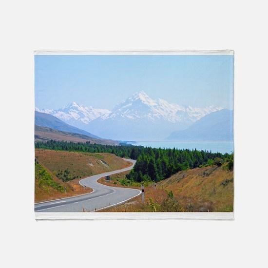 Mount Cook Highway NZ Throw Blanket