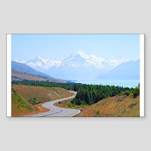 Mount Cook Highway NZ Sticker