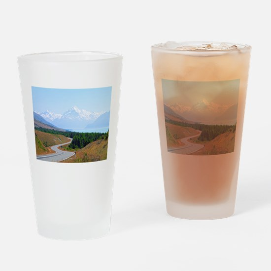 Mount Cook Highway NZ Drinking Glass