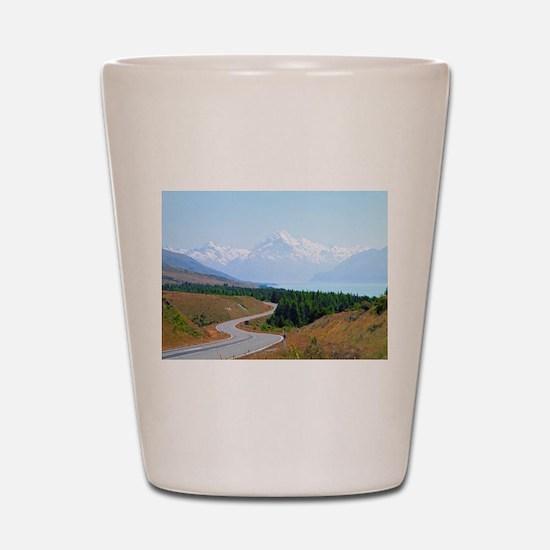 Mount Cook Highway NZ Shot Glass
