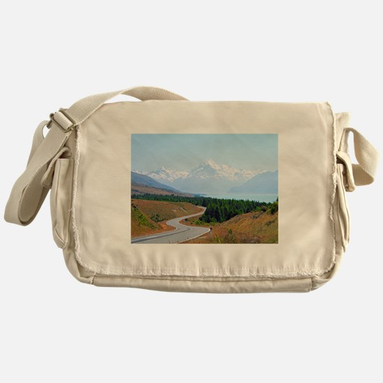 Mount Cook Highway NZ Messenger Bag