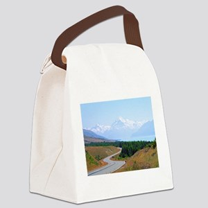 Mount Cook Highway NZ Canvas Lunch Bag
