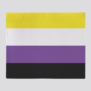 Non-binary Pride Throw Blanket