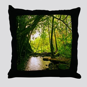 Pool in Tropical Paradise Throw Pillow