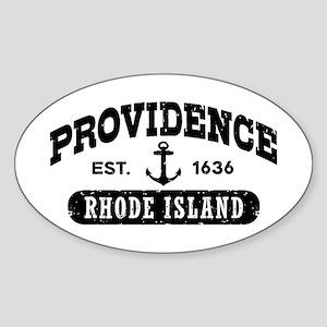 Providence Rhode Island Sticker (Oval)