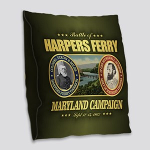 Harpers Ferry (FH2) Burlap Throw Pillow