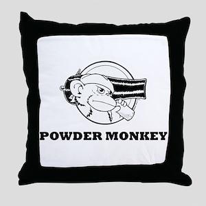 Powder Monkey TS BW 2011 Throw Pillow