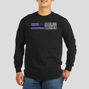 Police: Proud Brother (Black Flag Blue Line) Long
