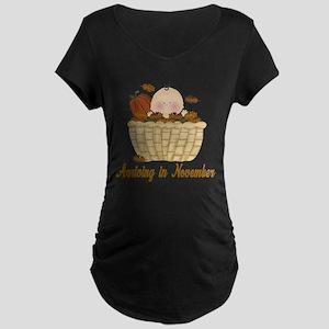 Baby Arriving In November Maternity T-Shirt