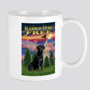 Blessed/Free-Black Lab Stainless Steel Travel Mugs
