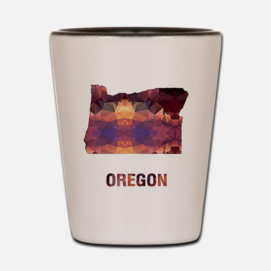 Cute Map oregon Shot Glass