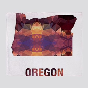 Mosaic Map OREGON Throw Blanket