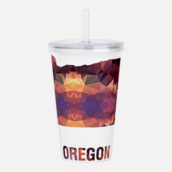 Mosaic Map OREGON Acrylic Double-wall Tumbler