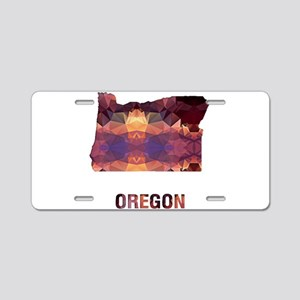Mosaic Map OREGON Aluminum License Plate