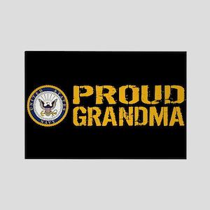 U.S. Navy: Grandma (Black) Rectangle Magnet