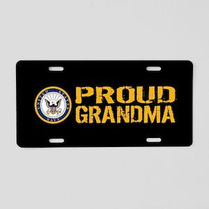 U.S. Navy: Grandma (Black) Aluminum License Plate