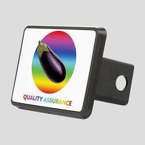 Rainbow Eggplant Quality A Rectangular Hitch Cover