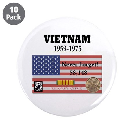 """Never Forget 3.5"""" Button (10 pack)"""