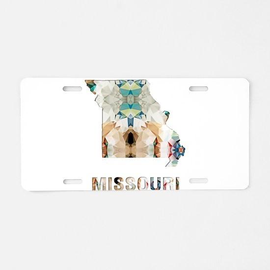 Mosaic Map MISSOURI Aluminum License Plate