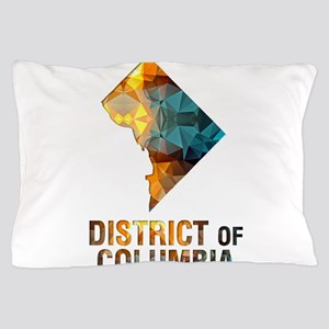 Mosaic Map DISTRICT of COLUMBIA Pillow Case