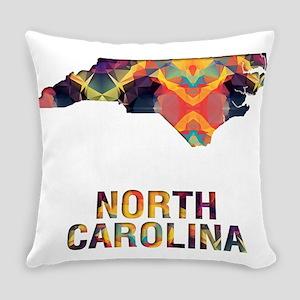 Mosaic Map NORTH CAROLINA Everyday Pillow