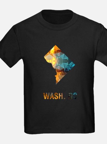 Mosaic Map WASHINGTON DC T-Shirt