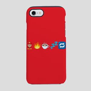 Emoji Fire Coffee Sleep iPhone 8/7 Tough Case