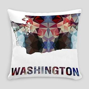 Mosaic Map WASHINGTON Everyday Pillow