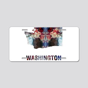 Mosaic Map WASHINGTON Aluminum License Plate