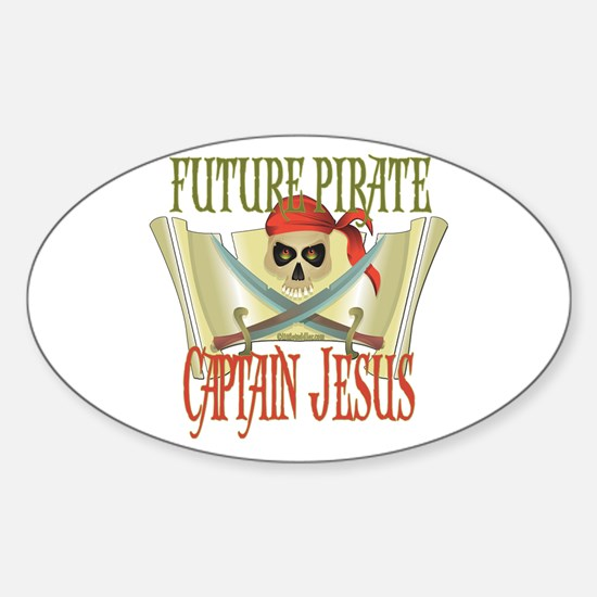 Captain Jesus Oval Decal
