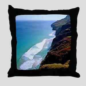 Kalalau Trail Kauai Throw Pillow